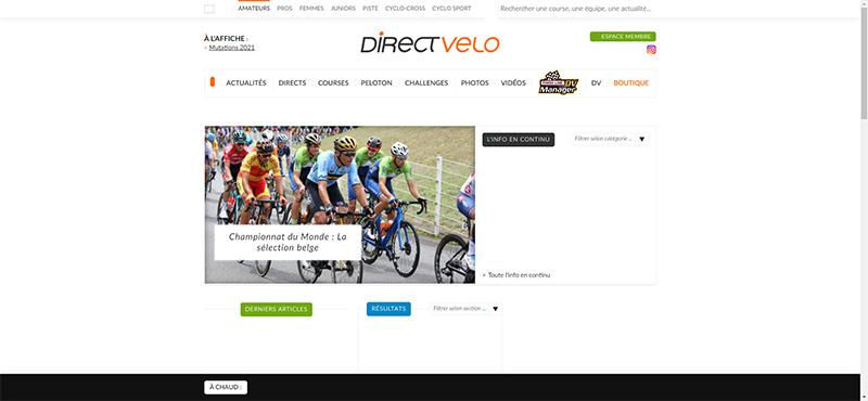 Directvelo resultat cyclisme